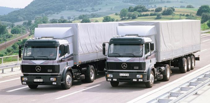 W przeprowadzonym niedawno profesjonalnym teście dokładnie zweryfikowano zużycie paliwa przezciągniki siodłowe Mercedes-Benz trzech generacji; wyniki obaliły kilka mitów (fot.Mercedes-Benz)