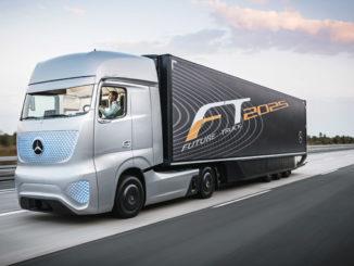 Autonomiczna ciężarówka Mercedes-Benz Future Truck 2025 miała premierę w 2014 r. – technologia na dziś, realistyczna implementacja w ciągu 10 lat (fot. Mercedes-Benz)
