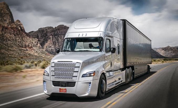 Freightliner Inspiration Truck – dwie takie autonomiczne ciężarówki kursują od2014 r. popublicznych drogach stanu Nevada (fot.Freightliner)