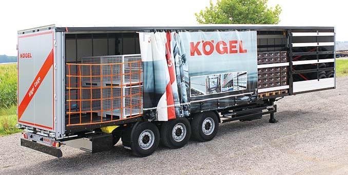4. miejsce iudział wrynku napoziomie 9,5% uzyskała firma Kögel Trailers (reprezentowana wPolsce przezGrupę DBK), sprzedając wsumie 2027 naczep (fot.Kögel Trailers)