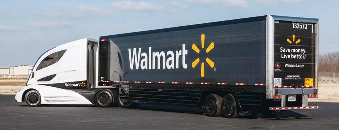 Great Dane todrugi co dowielkości północnoamerykański producent naczep zponad 100-letnim doświadczeniem produkcyjnym, udziałem wrynku wynoszącym 24% iprodukcją napoziomie 52 600 szt. Firma specjalizuje się wnaczepach furgonowych, ma wUSA najwięcej miejsc produkcji (fot.Walmart)