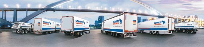 Schmitz Cargobull tonajwiększy europejski producent naczep, zajmujący wrankingu globalnym 4. pozycję zprodukcją napoziomie 50 000 pojazdów. Główne miejsca produkcji to5 fabryk naterenie Niemiec, fabryka wHiszpanii, naLitwie orazwRosji. W2014 r. uruchomiono zakład wchińskim Wuhan (j.v. zDonfeng), planowane jest uruchomienie produkcji wTurcji (fot.Schmitz Cargobull)