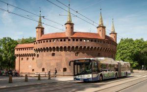 Autobus elektryczny przegubowy Solaris Urbino 18 electric wKrakowie